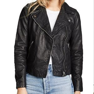 NWT Madewell Washed Leather Motorcycle Jacket